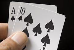 игра карточек Стоковое фото RF