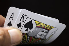 игра карточек Стоковое Изображение RF