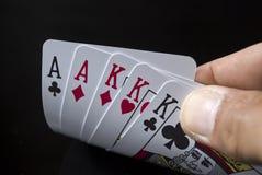 игра карточек Стоковые Изображения