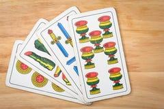 Игра карточек Primiera Стоковые Изображения RF