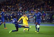Игра 2014 квалификатора кубка мира ФИФА Украина против Франции Стоковая Фотография RF