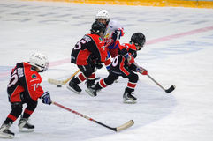 Игра команд хоккея на льде детей Стоковые Фотографии RF