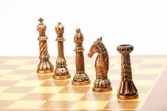 Игра комплекта шахмат Стоковое фото RF