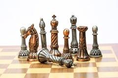 Игра комплекта шахмат Стоковое Изображение