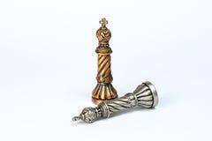 Игра короля шахмат установленная Стоковое Изображение RF
