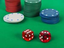 Игра кости играя в азартные игры Стоковая Фотография