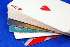 игра кредита карточек Стоковое Изображение RF