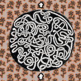 Игра лабиринта глобуса Стоковые Фотографии RF