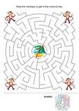 Игра лабиринта для малышей Стоковое Изображение