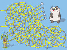 Игра лабиринта панды Стоковое Фото