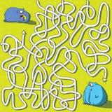 Игра лабиринта слонов Стоковая Фотография RF