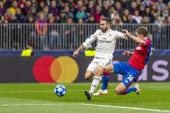 Игра лиги чемпионов UEFA на стадионе Luzhniki, CSKA - Real Madrid стоковые изображения rf