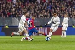 Игра лиги чемпионов UEFA на стадионе Luzhniki, CSKA - Real Madrid стоковая фотография rf
