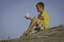 Игра луны Стоковые Фото