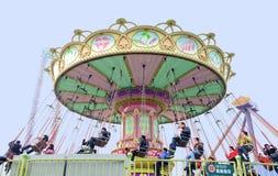 игра людей chairoplane счастливая Стоковые Фотографии RF