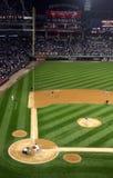 игра майора лиги бейсбола шарика Стоковое Изображение