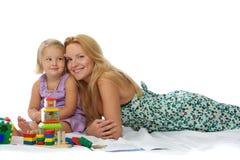 игра мати дочи Стоковая Фотография RF