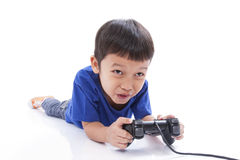 игра мальчика играя видео Стоковое фото RF