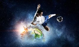 Игра мира популярная и полюбленная Мультимедиа Стоковое фото RF