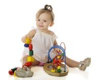 Игра младенца стоковое изображение