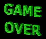 ИГРА НАД зеленым текстом 2 Стоковое Изображение RF