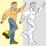 игра ноги предназначенная для подростков Стоковое фото RF