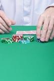 игра обломоков карточек вручает таблицу Стоковая Фотография