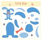 Игра образования бумажная для развития детей дошкольного возраста Отрежьте части изображения и крепить бумага вектор иллюстрация вектора
