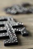 Игра домино с камнями домино Стоковые Фото