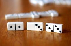 Игра домино Стоковые Фото