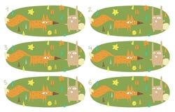 Игра пар спички визуальная: Foy и кролик Стоковое фото RF