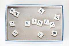 игра плашек доски вне говоря по буквам Стоковая Фотография