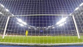 Игра премьер-лиги Украины между FC Dynamo Kyiv и Olimpic Стоковое Изображение