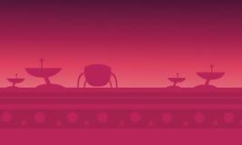 Игра предпосылок корабля чужеземца красная Стоковые Изображения