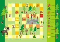 Игра - путь к замку Стоковые Изображения