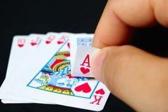 игра руки карточек Стоковое Изображение