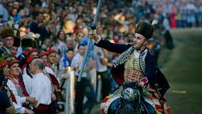 Игра рыцаря Alka в Sinj Стоковые Фото