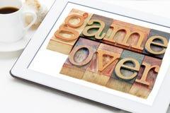 Игра сверх в деревянном типе Стоковые Изображения RF
