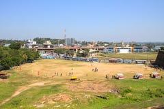 Игра сверчка в Галле, Шри-Ланке стоковые фотографии rf