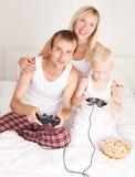 Игра семьи дома Стоковая Фотография RF