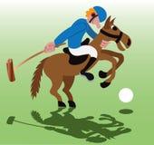 Игра спорта поло иллюстрация штока