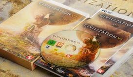 Игра стратегии компьютера цивилизации VI Sid Meier Стоковое Изображение RF