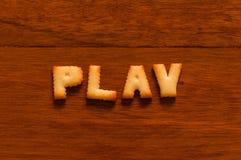 Игра слов написанная с шутихой Стоковое фото RF