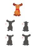 Игра теней, северный олень Стоковая Фотография