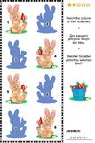 Игра тени - зайчики с морковами Стоковое Изображение