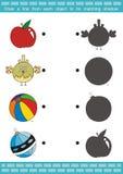 Игра тени соответствуя (6) Стоковое фото RF