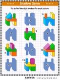 Игра тени с buiding блоками Стоковые Изображения RF