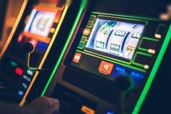 Игра торговых автоматов цифров Стоковое фото RF