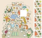 Игра Visual торжества дня рождения Стоковое Изображение RF