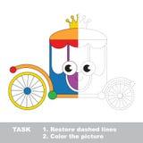 Игра трассировки вектора воспитательная для детей preschool иллюстрация штока
